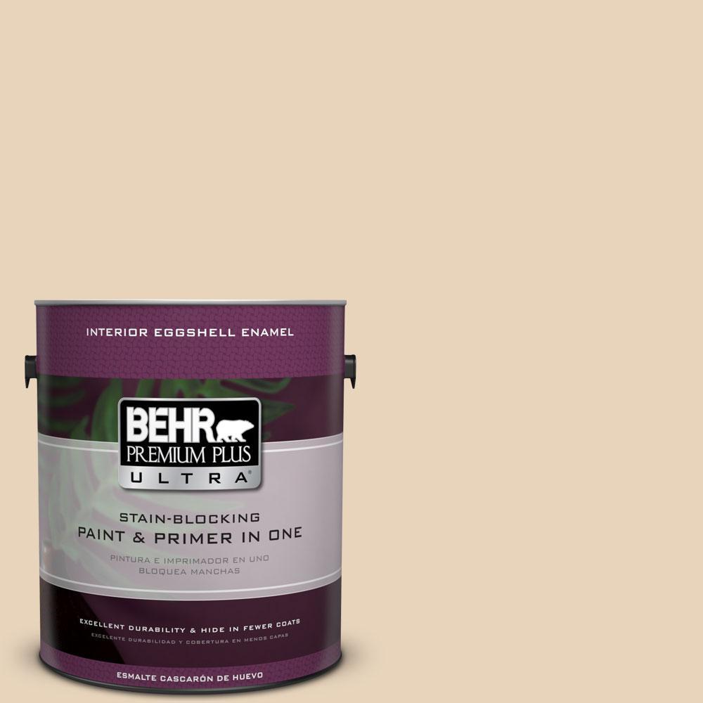 BEHR Premium Plus Ultra 1-gal. #S260-1 Plantation Tan Eggshell Enamel Interior Paint