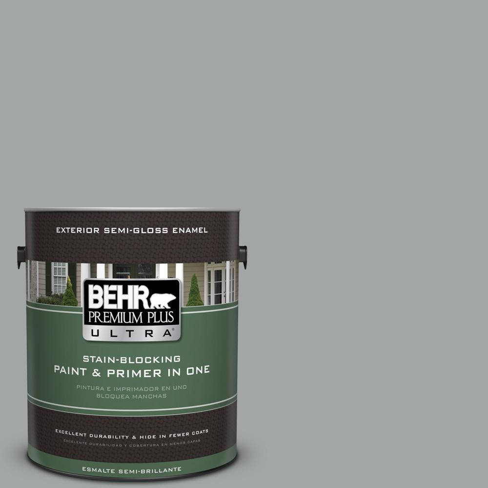 1 gal. #PPU25-16 Chain Reaction Semi-Gloss Enamel Exterior Paint
