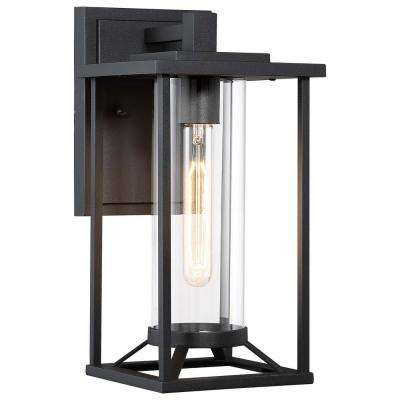 Trescott 1- Light Black Outdoor Wall Lantern Sconce