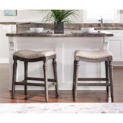 Hynes 24 in. Grey  Counter Stool