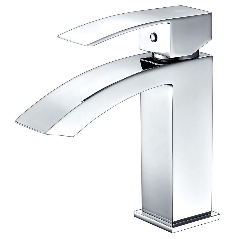 Anzzi Revere Series Single Hole Single Handle Low Arc Bathroom Faucet In Polished Chrome L Az037