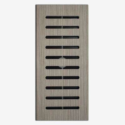 Made2Match Metro Charcoal Porcelain 5 in. x 11 in. Floor Vent Register