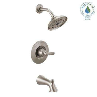 Woodhurst 1-Handle Wall Mount Tub and Shower Trim Kit in Stainless (Valve Not Included)