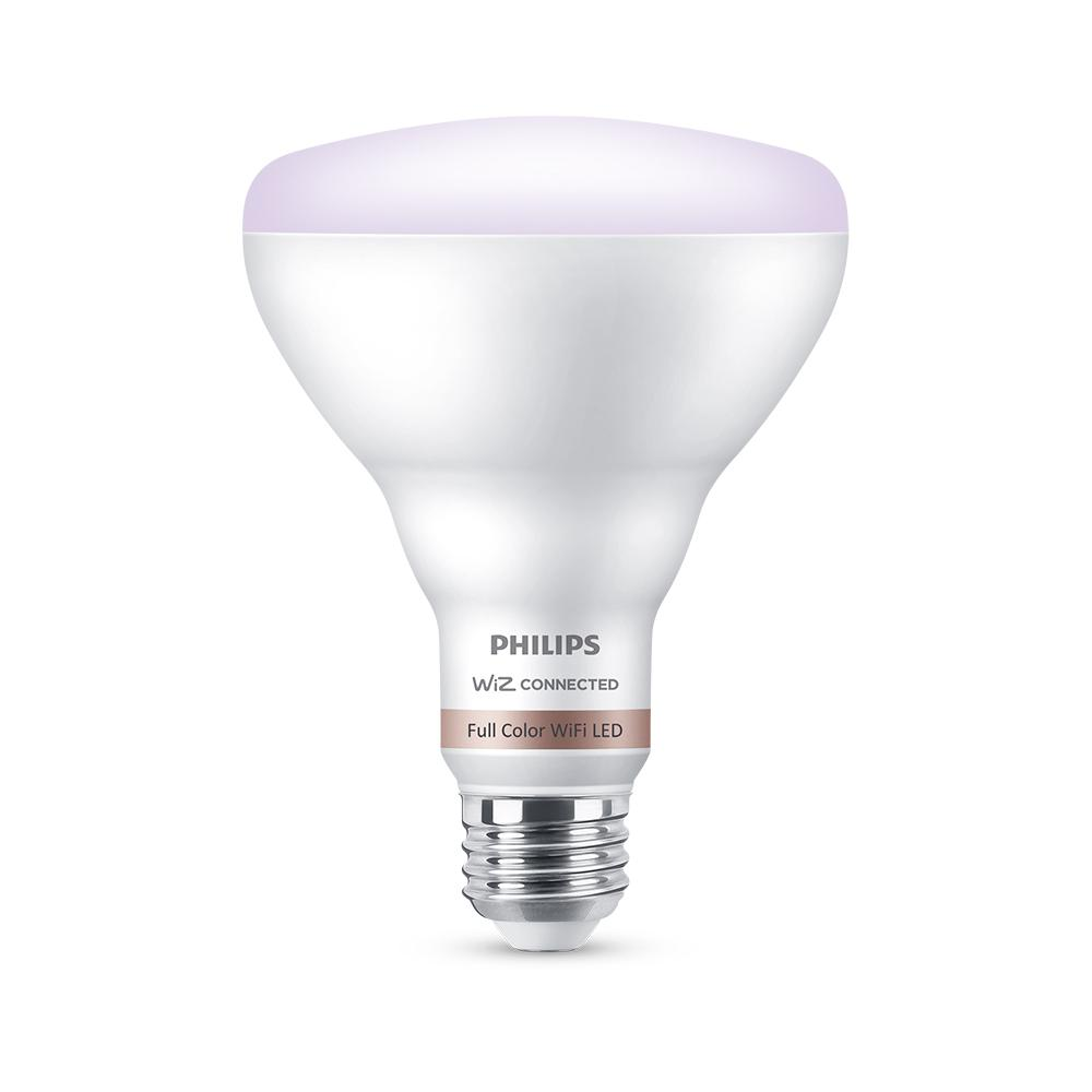 Philips Color and Tunable White BR30 LED 65W Equivalent Dimmable Smart Wi-Fi Wiz Connected Wireless Light Bulb