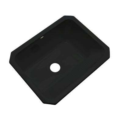 Kensington Undermount Acrylic 25 in. Single Bowl Utility Sink in Black
