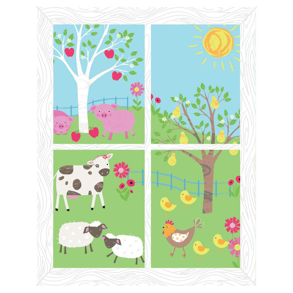 Multi Farmland Window Scene Decal Wall Art Kit