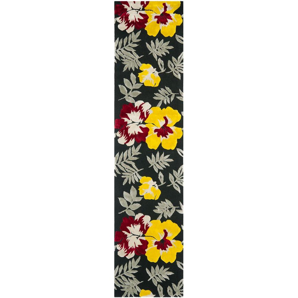 Safavieh Wilton Black/Multi 2 ft. 3 in. x 10 ft. Runner