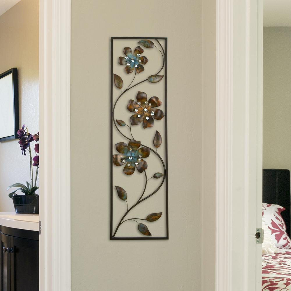 Asheville Model Home Interior Design 1264f: Stratton Home Decor Metal Winding Flowers Wall Decor