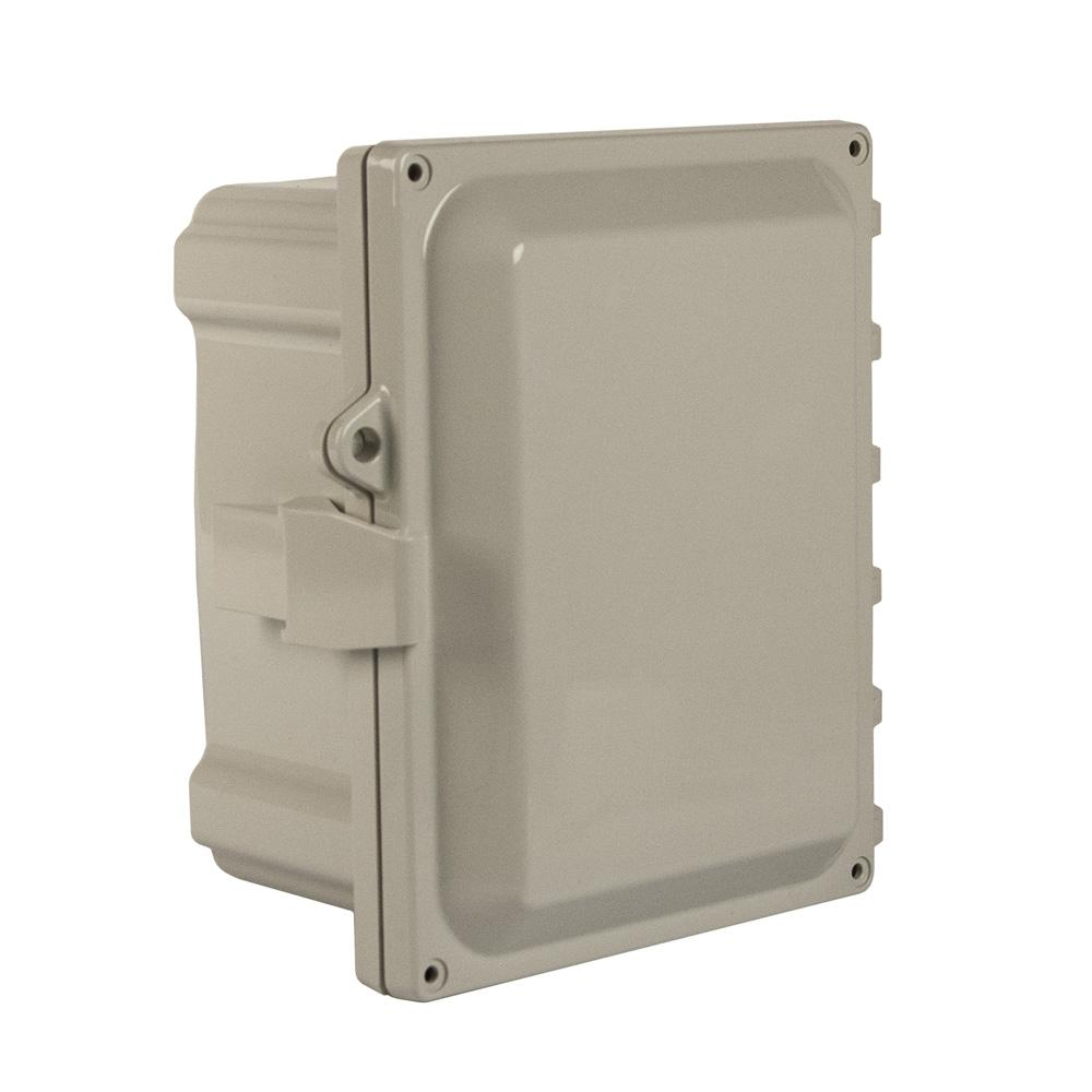 Hinged Opaque Cover Mounting Flanges Polyguard 6x4x3-HOLB Polycarbonate Enclosure Lockable Latch