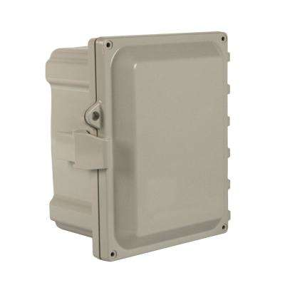 NEMA 4X Hinged Cover with Quick Release Latch Wall-Mount Polycarbonate 8X6X4