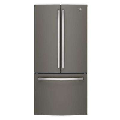 33 in. W 24.8 cu. ft. French Door Refrigerator in Slate