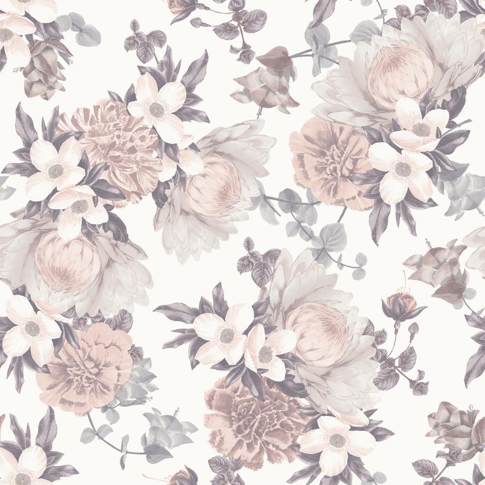 Tempaper Botanical Blossom Self Adhesive Removable Wallpaper Bo510