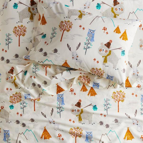 Company Kids by The Company Store Forest Campers 3-Piece 200-Thread Count