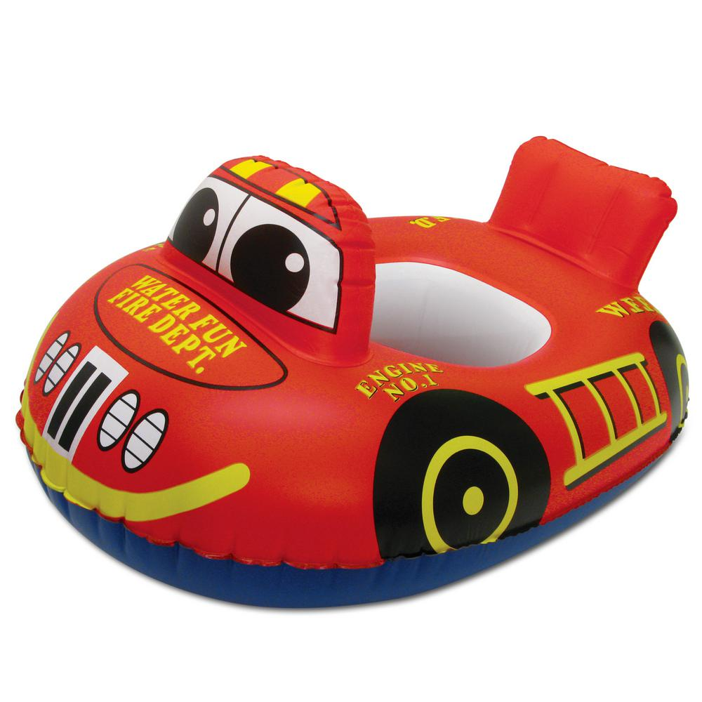 Fire Engine Baby Swimming Pool Float Rider Pool Toy