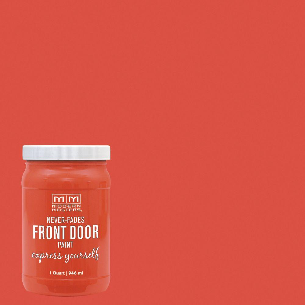 Modern Masters Express Yourself 1 qt. Satin Cheerful Orange Water-Based Front Door Paint