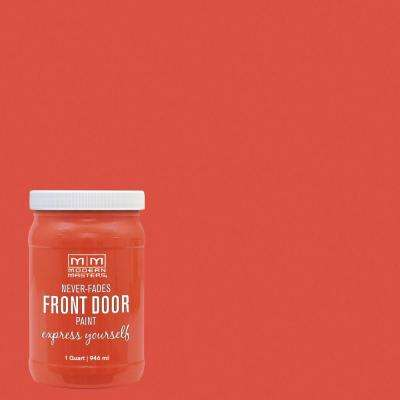 Express Yourself 1 qt. Satin Cheerful Orange Water-Based Front Door Paint