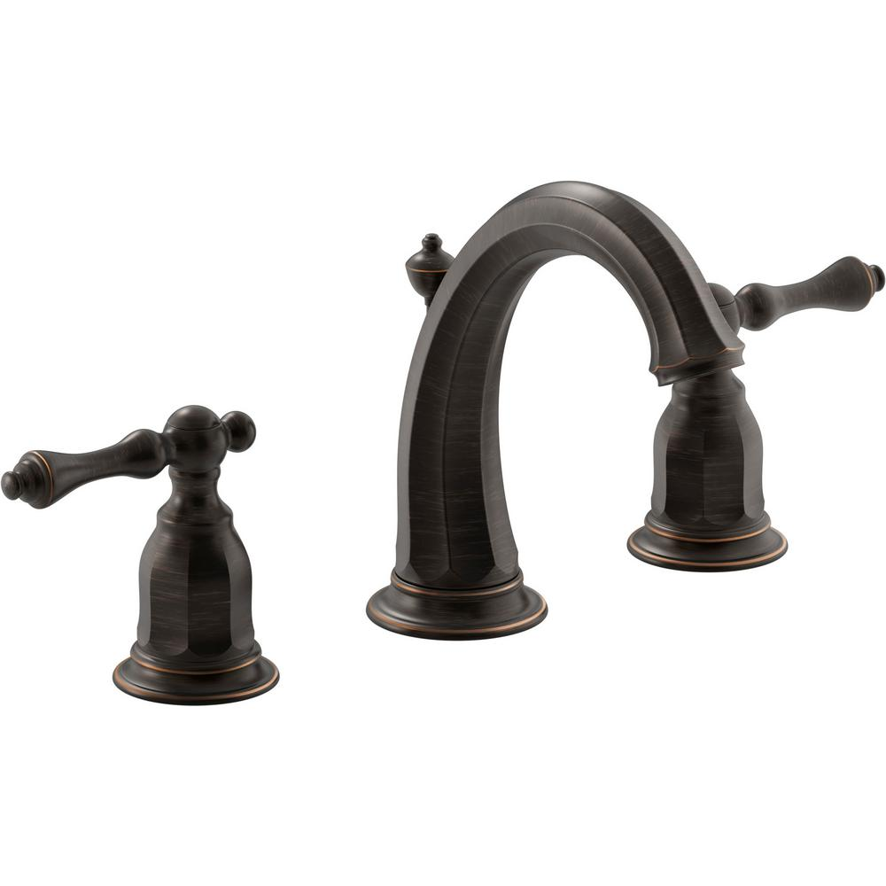 Kelston 8 in. Widespread 2-Handle Water-Saving Bathroom Faucet in Oil-Rubbed Bronze