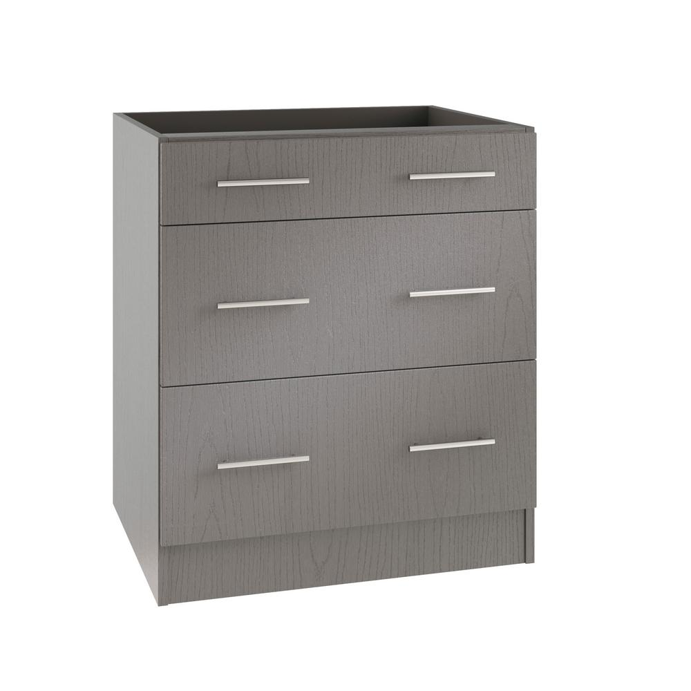 Weatherstrong Island Outdoor Kitchen Base Cabinet Drawers Rustic Gray Assembled