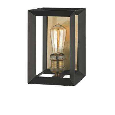 Austin 1-Light Black and Gold Wall Sconce
