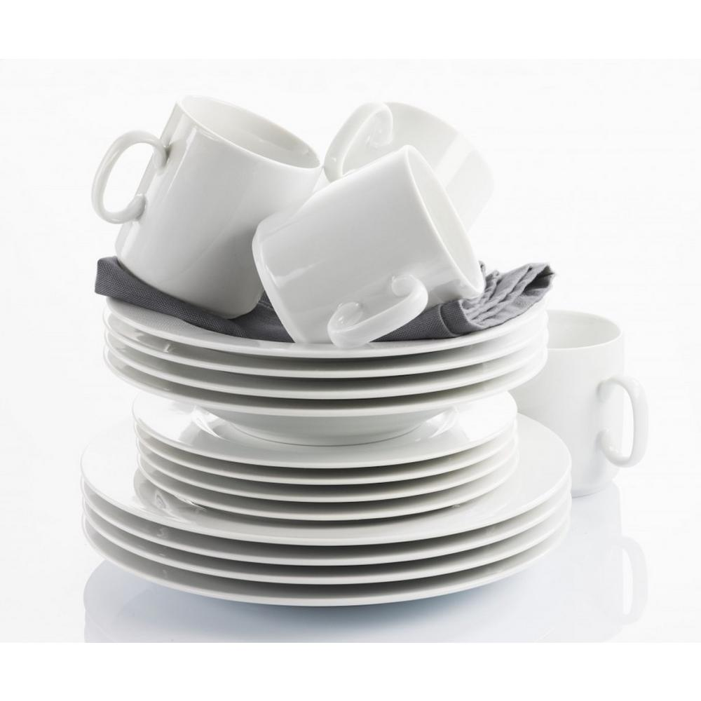 Revol French Classics 16-Piece White Porcelain Dinnerware Set  sc 1 st  The Home Depot & Revol French Classics 16-Piece White Porcelain Dinnerware Set-642405 ...