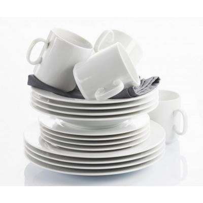 French Classics 16-Piece White Porcelain Dinnerware Set