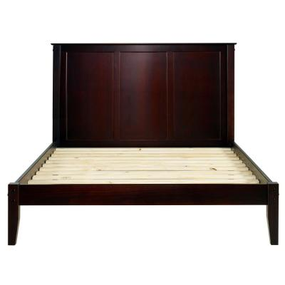 Shaker Style Cappuccino Queen Size Panel Headboard and Platform Bed