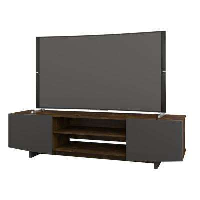 Helix 72 in. Truffle and Charcoal Grey Entertainment Center