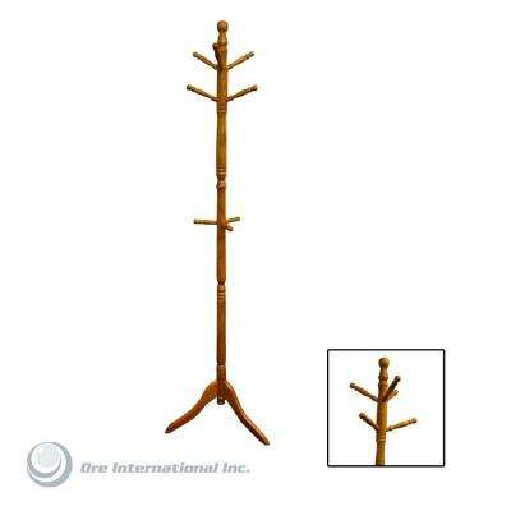 Natural 0-Hook Coat Rack
