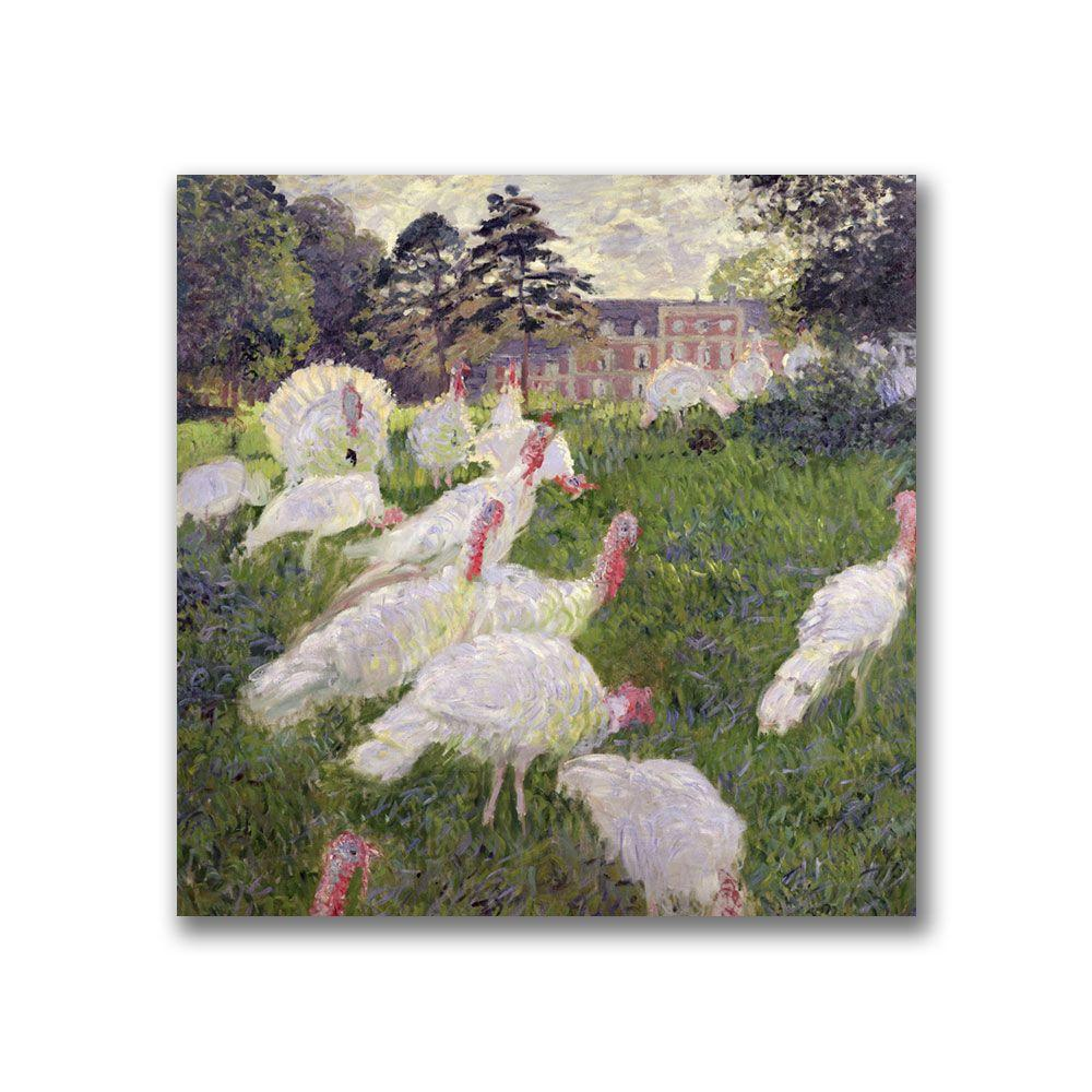 Trademark Fine Art 18 in. x 18 in. The Turkeys at the Chateau Canvas Art