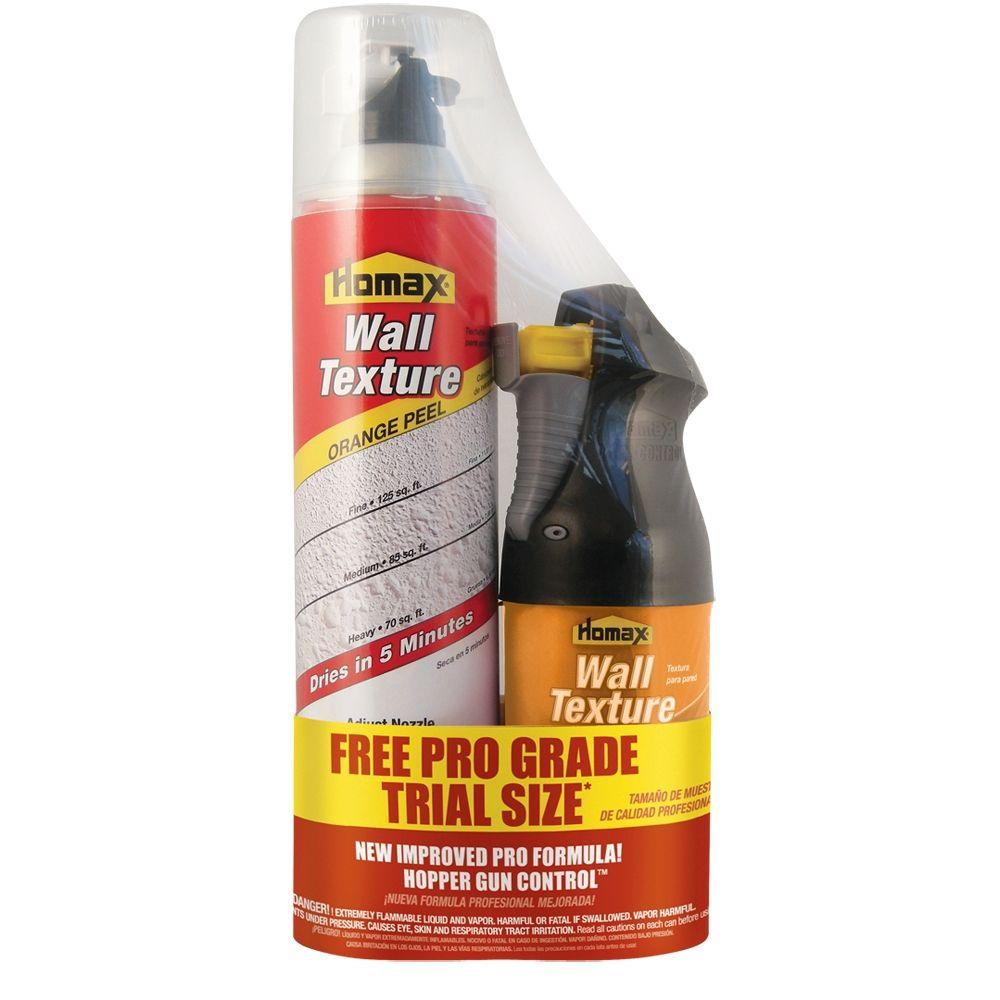 Homax 25 oz. Oil-Based Spray Texture with Free 8 oz. Pro Grade Water-Based Wall Dual Control Spray Texture-DISCONTINUED