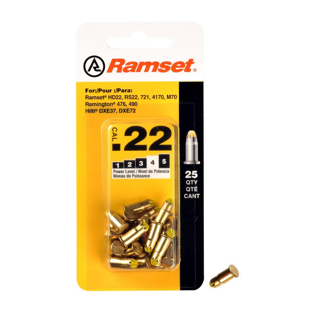 0.22 Caliber Yellow Single Shot Powder Loads (25-Pack)