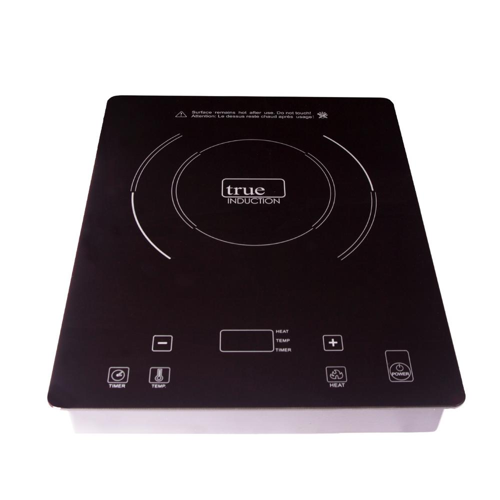 True Induction 11 in. Glass Induction Cooktop in Black with 1 Induction Element