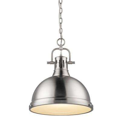 Pewter standard industrial pendant lights lighting the duncan collection 1 light pewter pendant aloadofball Gallery