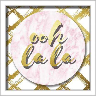 Ooh La La 10 in. x 10 in. Shadowbox Wall Art