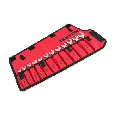 8-19 mm Stubby Ratcheting Combination Wrench Set with Pouch (12-Piece)