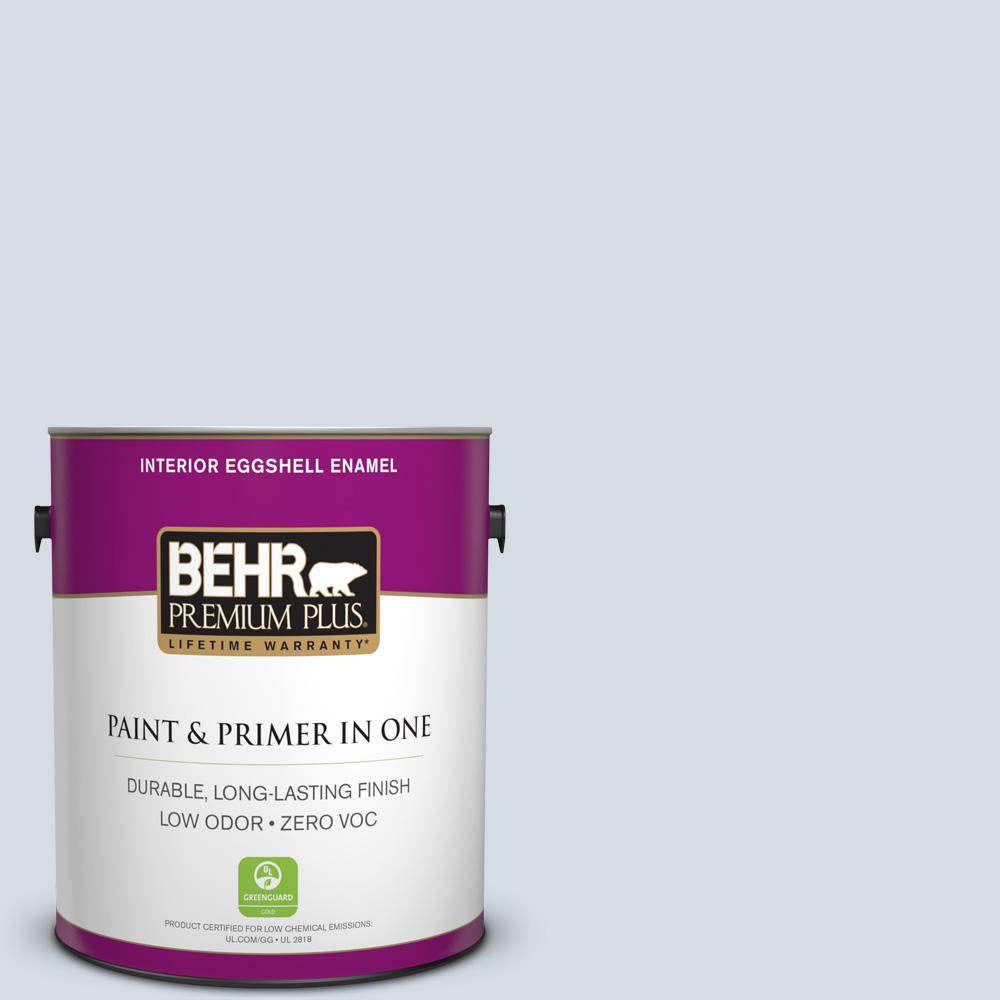 BEHR Premium Plus 1-gal. #PPL-45 Mystic Pool Zero VOC Eggshell Enamel Interior Paint