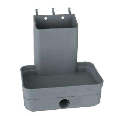 Plastic Peg Pencil Sharpener with Tape Measure Holder in Gray