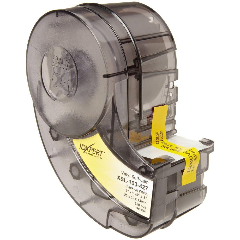 IDXPERT 1 in. x 1.25 in. Vinyl Wire/Cable-Marking Self-Laminating Label