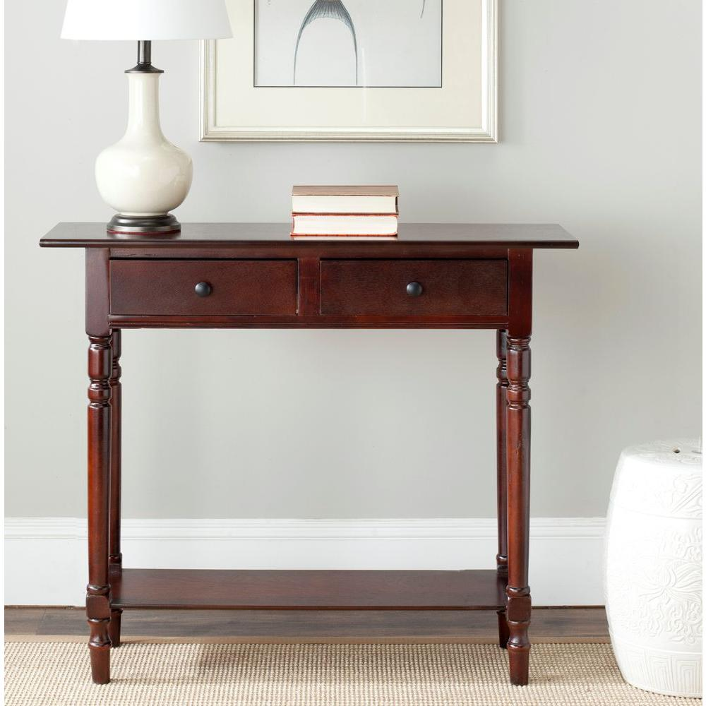 Merveilleux Safavieh Rosemary Distressed Black Storage Console Table AMH5705B   The  Home Depot