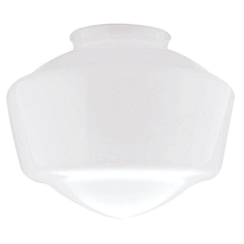 westinghouse 7 in handblown opal schoolhouse shade with 4 in