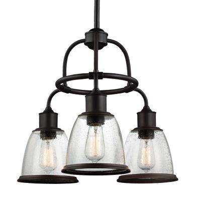 Hobson 3-Light Oil Rubbed Bronze Single-Tier Chandelier Shade