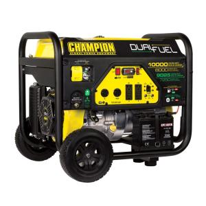 Click here to buy Champion Power Equipment 8,000-Watt Dual Fuel Push-Button Electric Start Portable Generator by Champion Power Equipment.