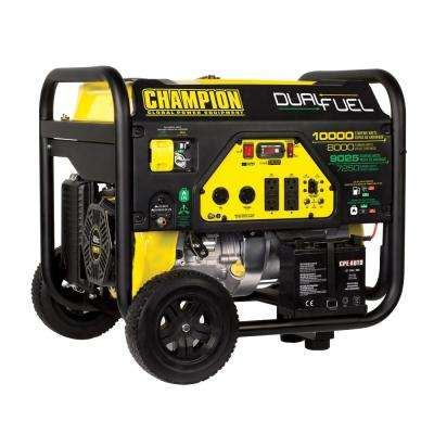 8,000-Watt Dual Fuel Push-Button Electric Start Portable Generator