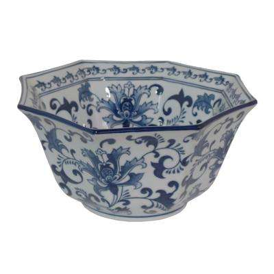 Ceramic Blue and White Bowl