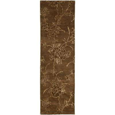 Soho Brown 3 ft. x 10 ft. Runner Rug