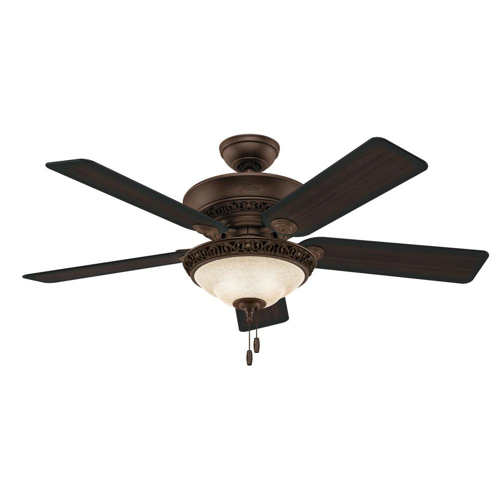 Hunter Italian Countryside 52 in. Indoor Cocoa Bronze Ceiling Fan with Light