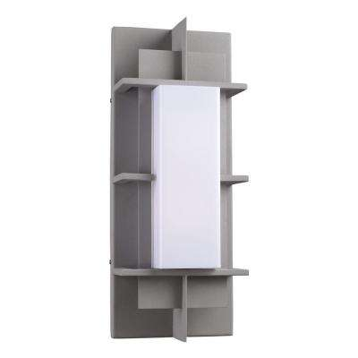 Contemporary Beauty 1-Light Outdoor Silver Wall Sconce