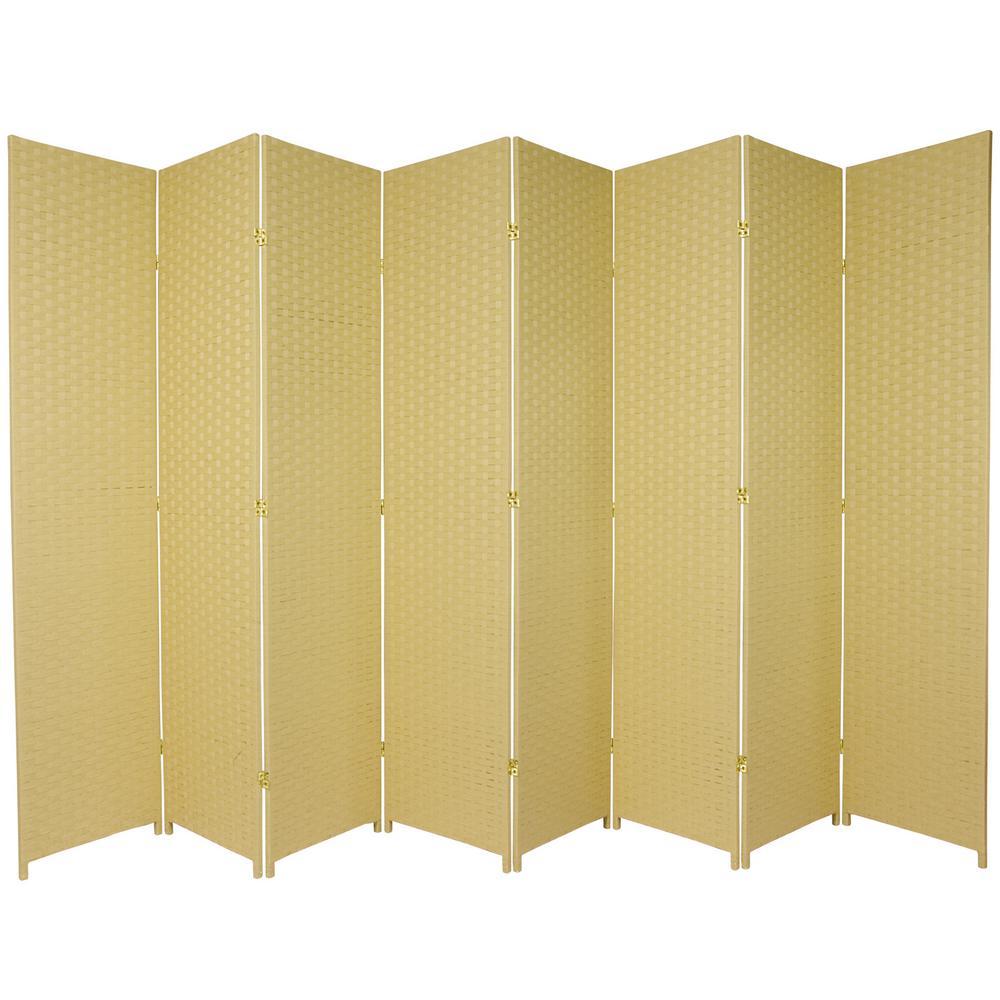7 ft. Dark Beige 8-Panel Room Divider