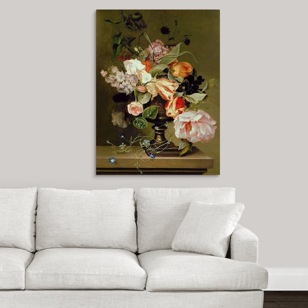 Greatbigcanvas Still Life With Flowers By Great Big Canvas Canvas