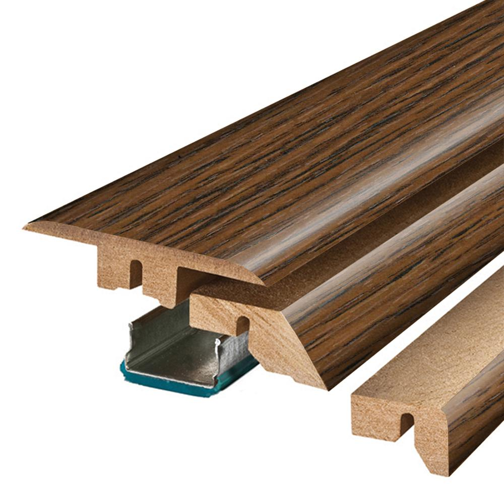Pergo Hand Sawn Oak 3/4 in. Thick x 2-1/8 in. Wide x 78-3/4 in. Length Laminate 4-in-1 Molding, Dark -  MG001307